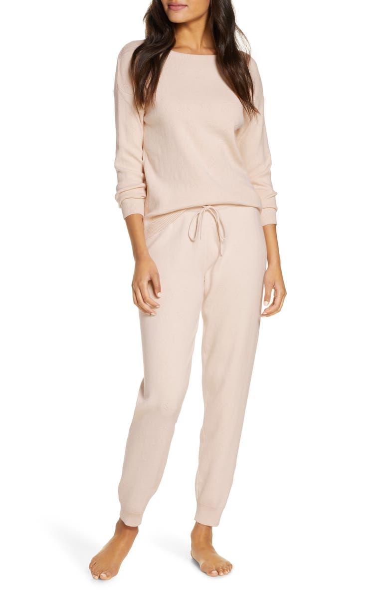 PAPINELLE Pointelle Pajamas, Main, color, BLUSH