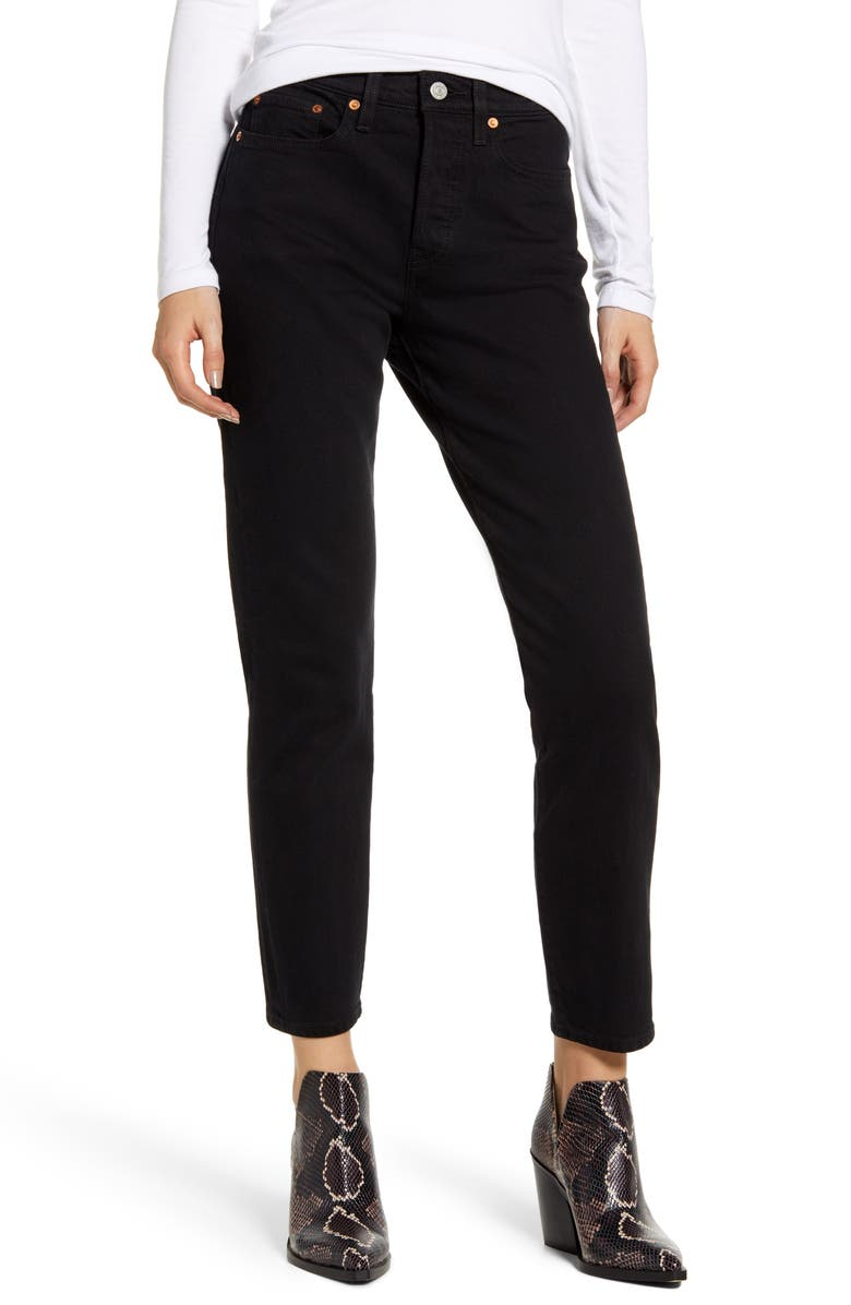 LEVI'S<SUP>®</SUP> Wedgie Icon Fit High Waist Ankle Jeans, Main, color, BLACK HEART