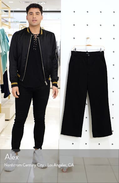 Joan High Waist Crop Wide Leg Trouser Jeans, sales video thumbnail