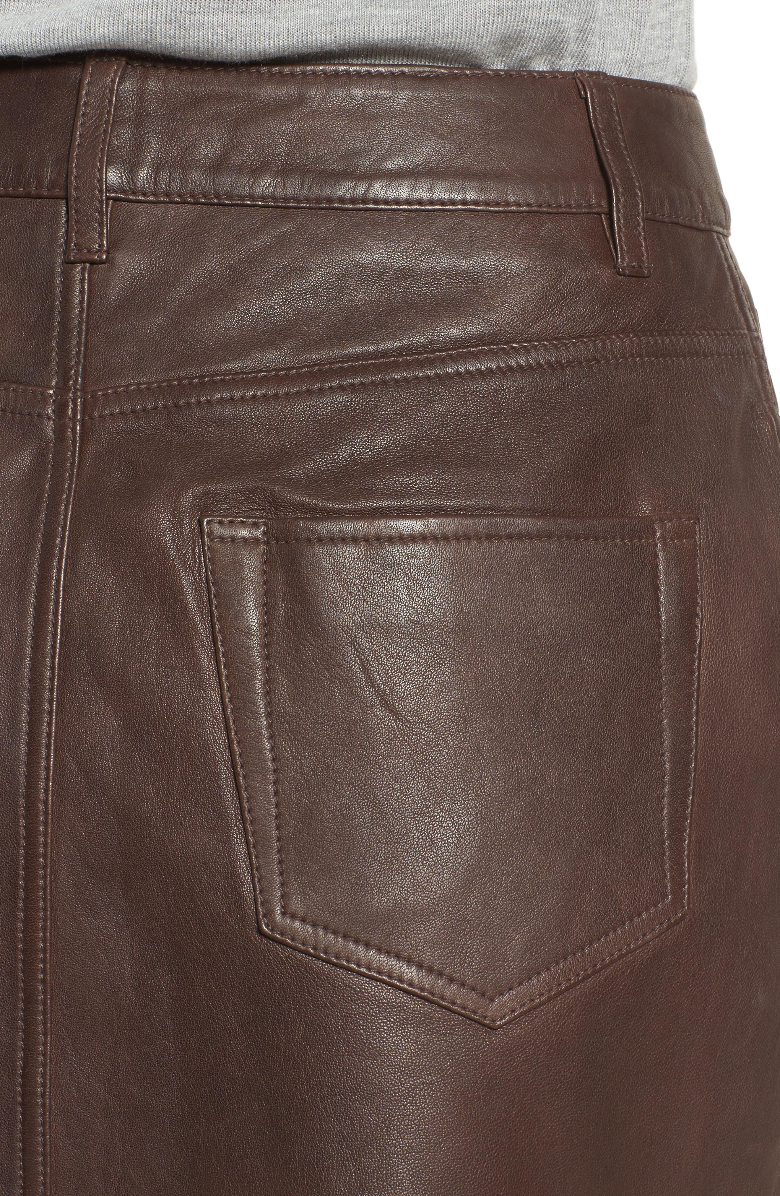 ,                             x Something Navy Leather Miniskirt,                             Alternate thumbnail 4, color,                             200
