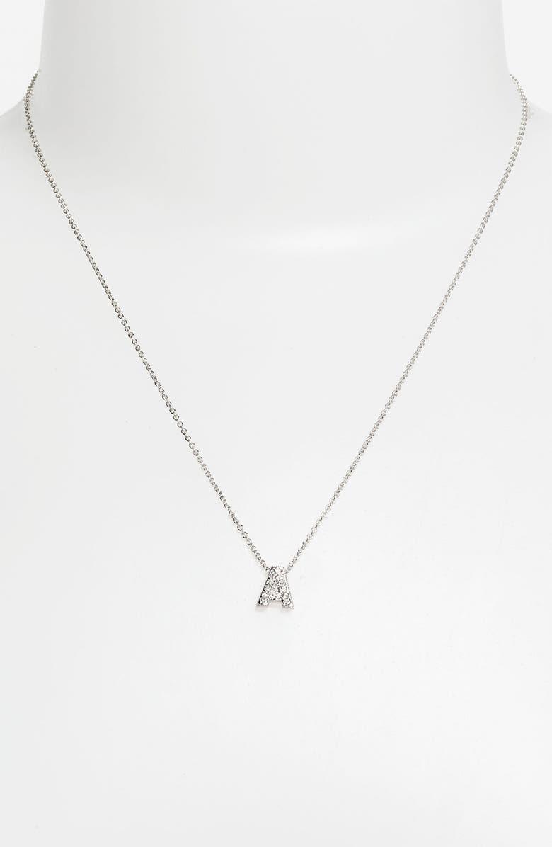 NADRI Boxed Initial Pendant Necklace, Main, color, 040