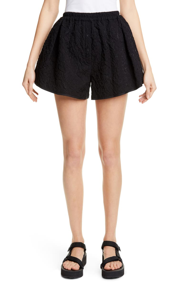 CECILIE BAHNSEN Rane Brocade Shorts, Main, color, 001