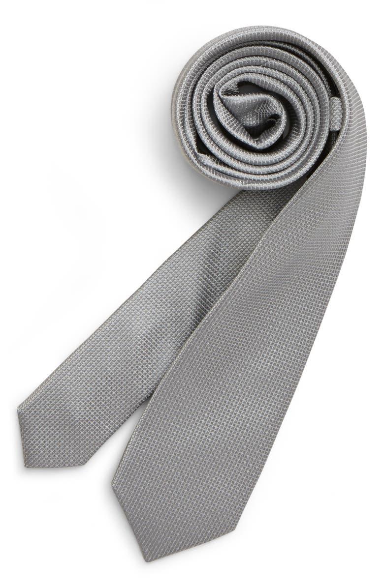 NORDSTROM Greyson Solid Silk Tie, Main, color, GREY
