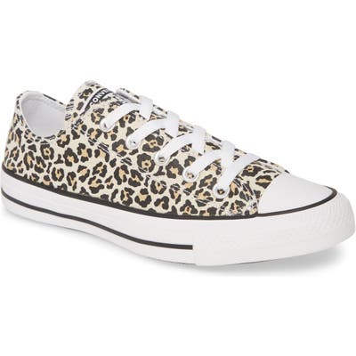 Converse Chuck Taylor All Star Leopard Print Low Top Sneaker, Brown