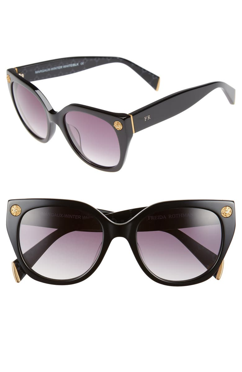 FREIDA ROTHMAN Freida Rothman 'Margaux Elegant' 54mm Retro Sunglasses, Main, color, 001