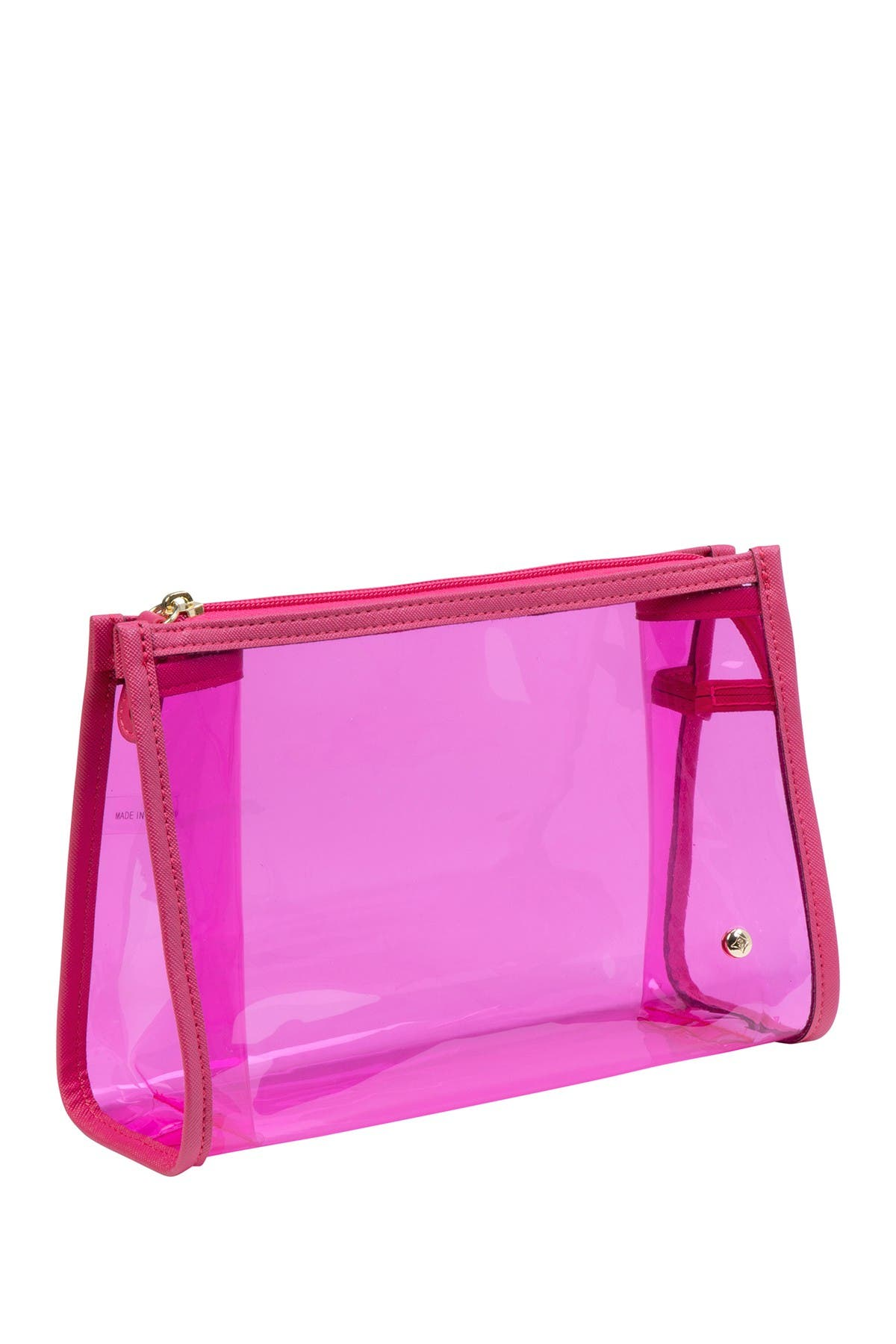 Image of Stephanie Johnson Miami Medium Zip Cosmetic Case - Raspberry