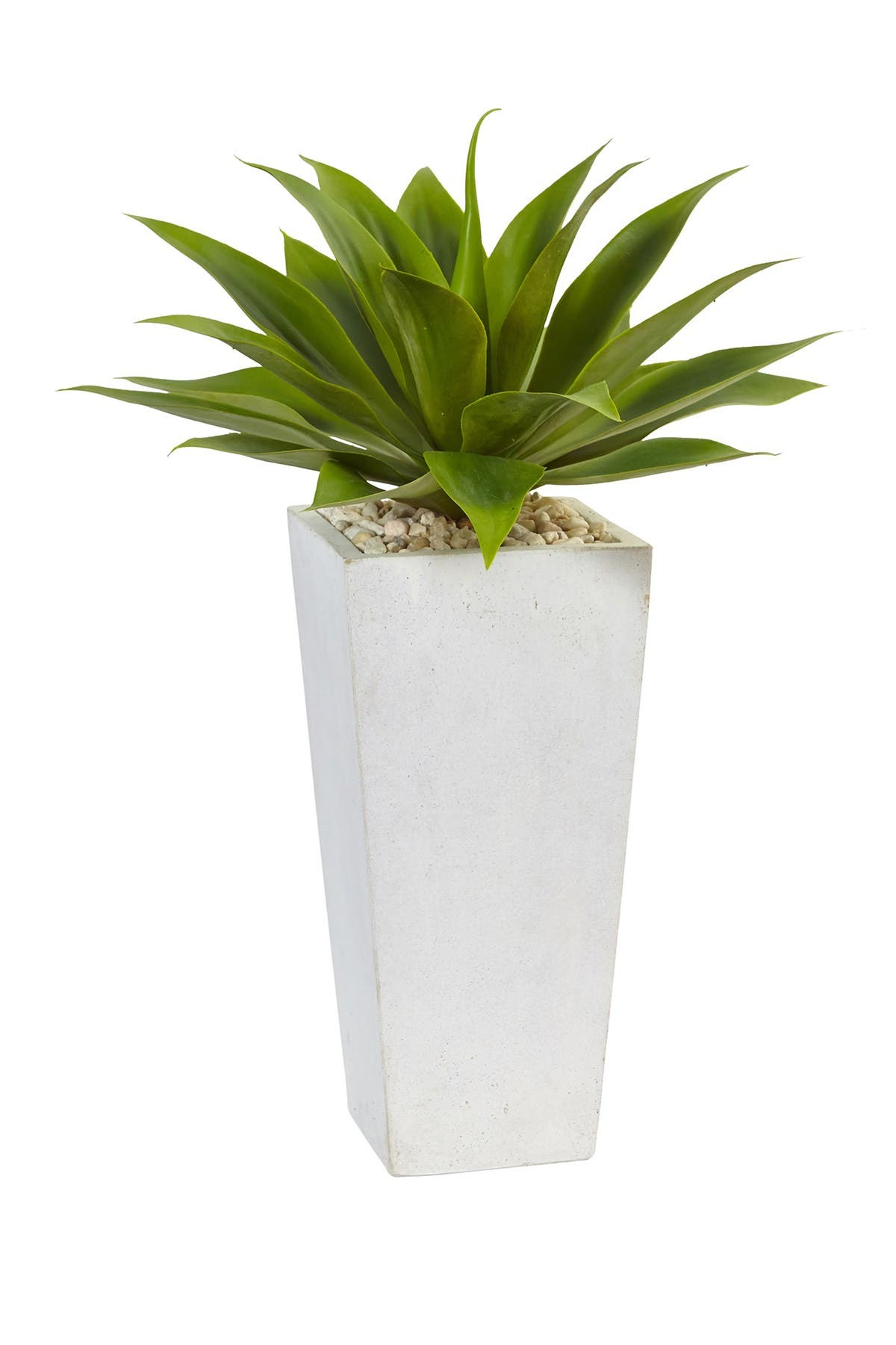 Image of NEARLY NATURAL Agave Artificial Plant in White Planter - Green