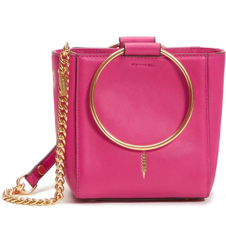 THACKER Mini Le Bucket Leather Ring Handle Bag, Main, color, 930