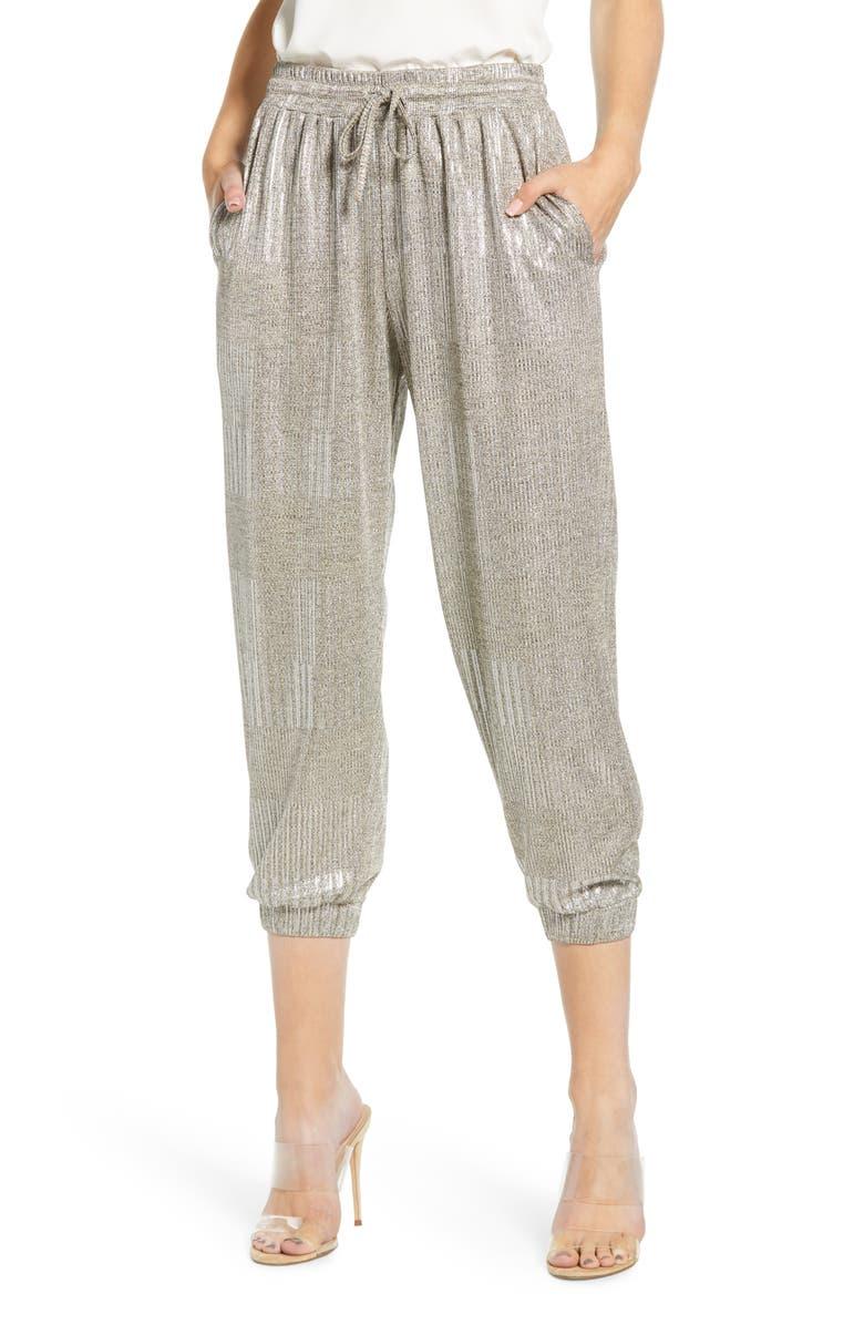 BISHOP + YOUNG Metallic Jogger Pants, Main, color, 041