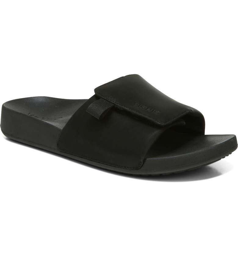 VIONIC Keira Slide Sandal, Main, color, BLACK
