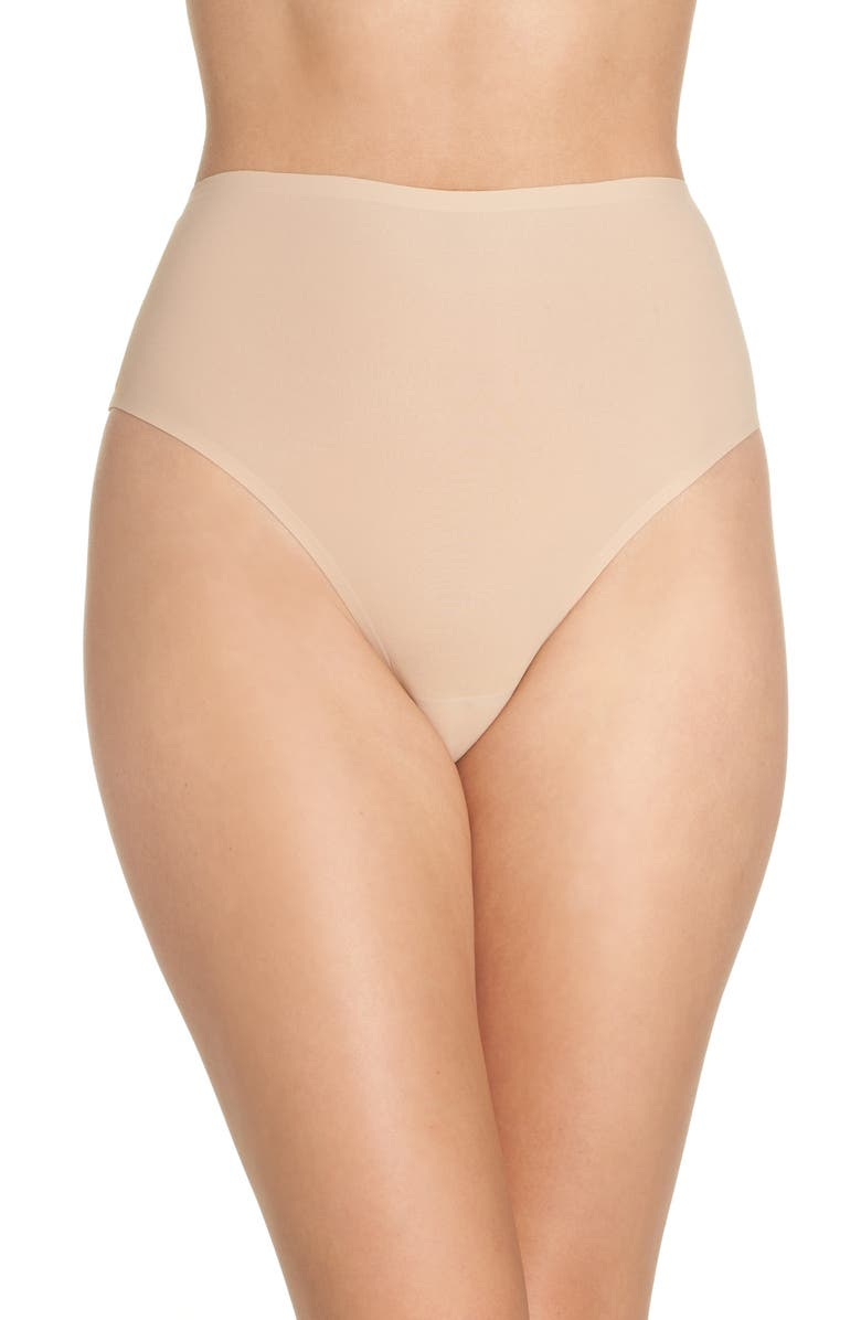 CHANTELLE LINGERIE Soft Stretch Seamless Retro Thong, Main, color, ULTRA NUDE