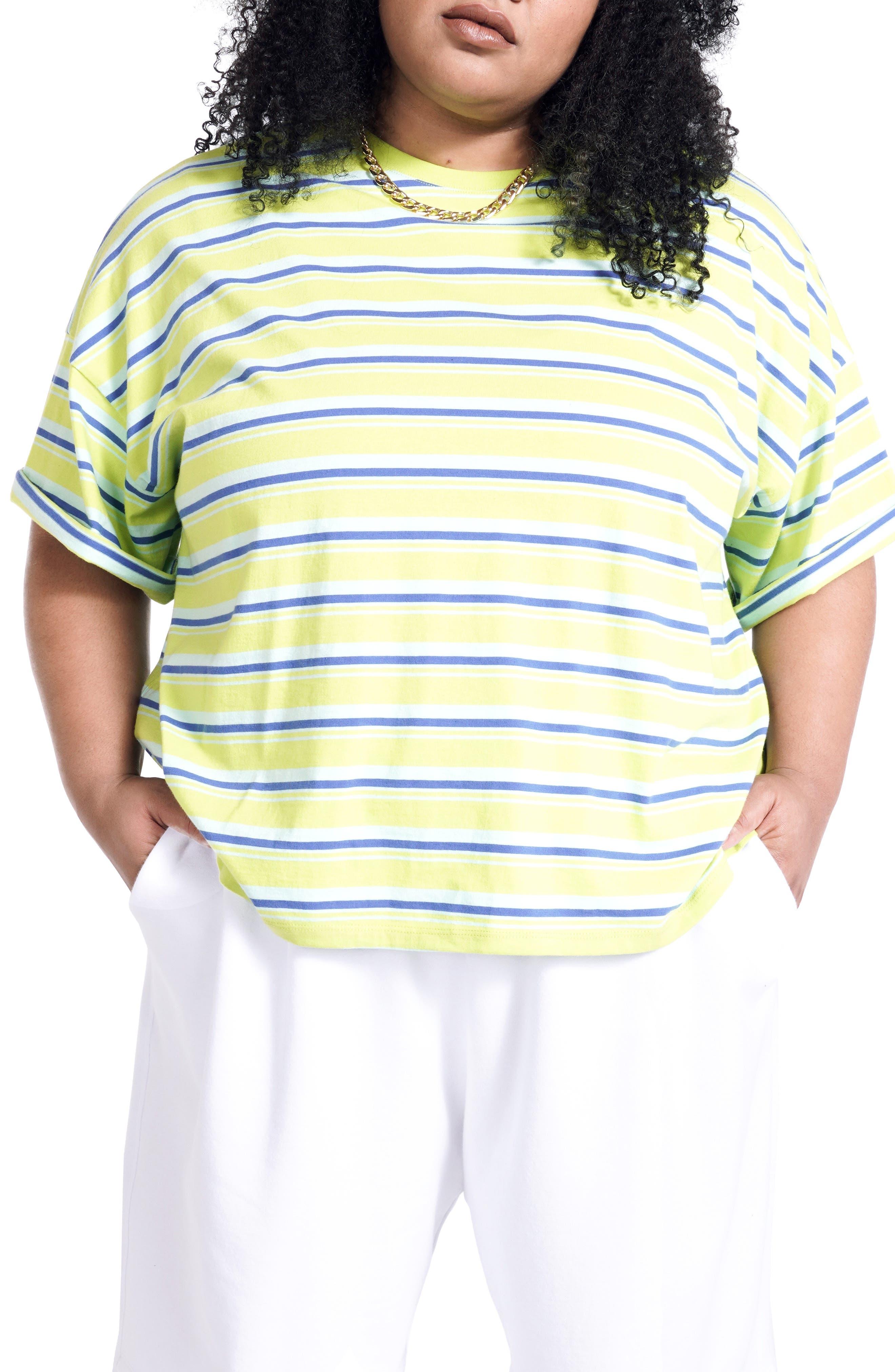 Women's Bp. + Wildfang Stripe Boxy T-Shirt