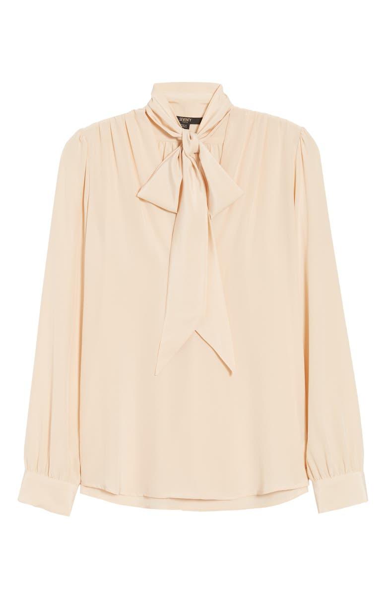 SEVENTY VENEZIA Tie Neck Silk Blouse, Main, color, 200