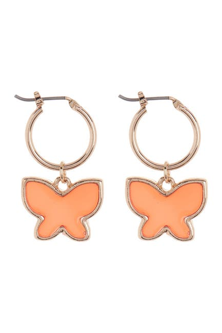 Image of AREA STARS Enamel Butterfly Huggie Earrings