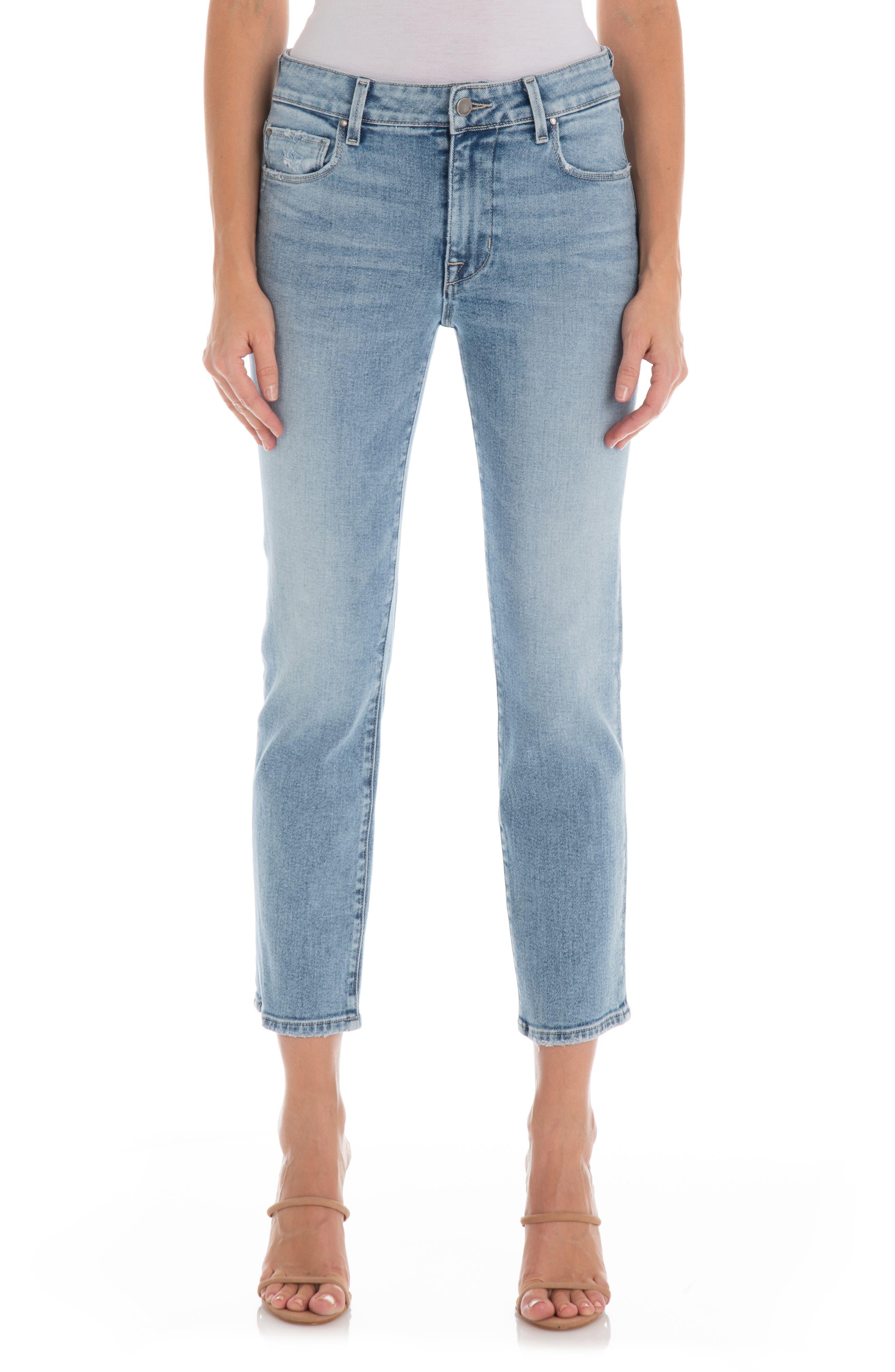 Cher High Waist Crop Slim Straight Jeans