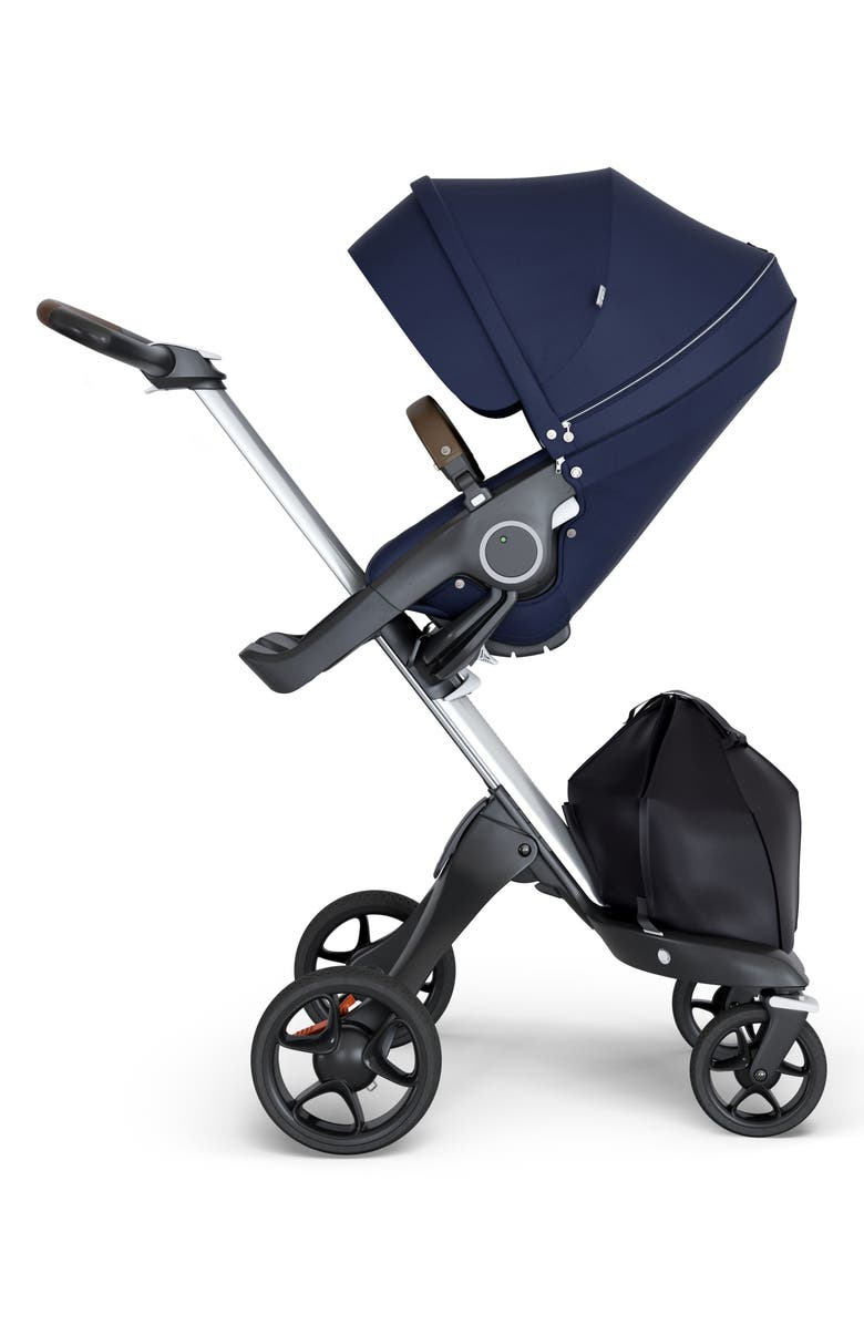 STOKKE Xplory<sup>®</sup> Silver Chassis Stroller, Main, color, DEEP BLUE