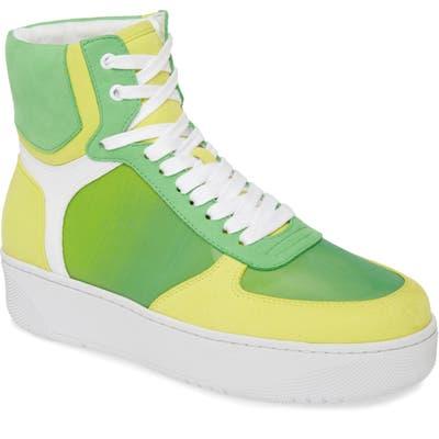 Jeffrey Campbell Court-Hi High-Top Sneaker, Green