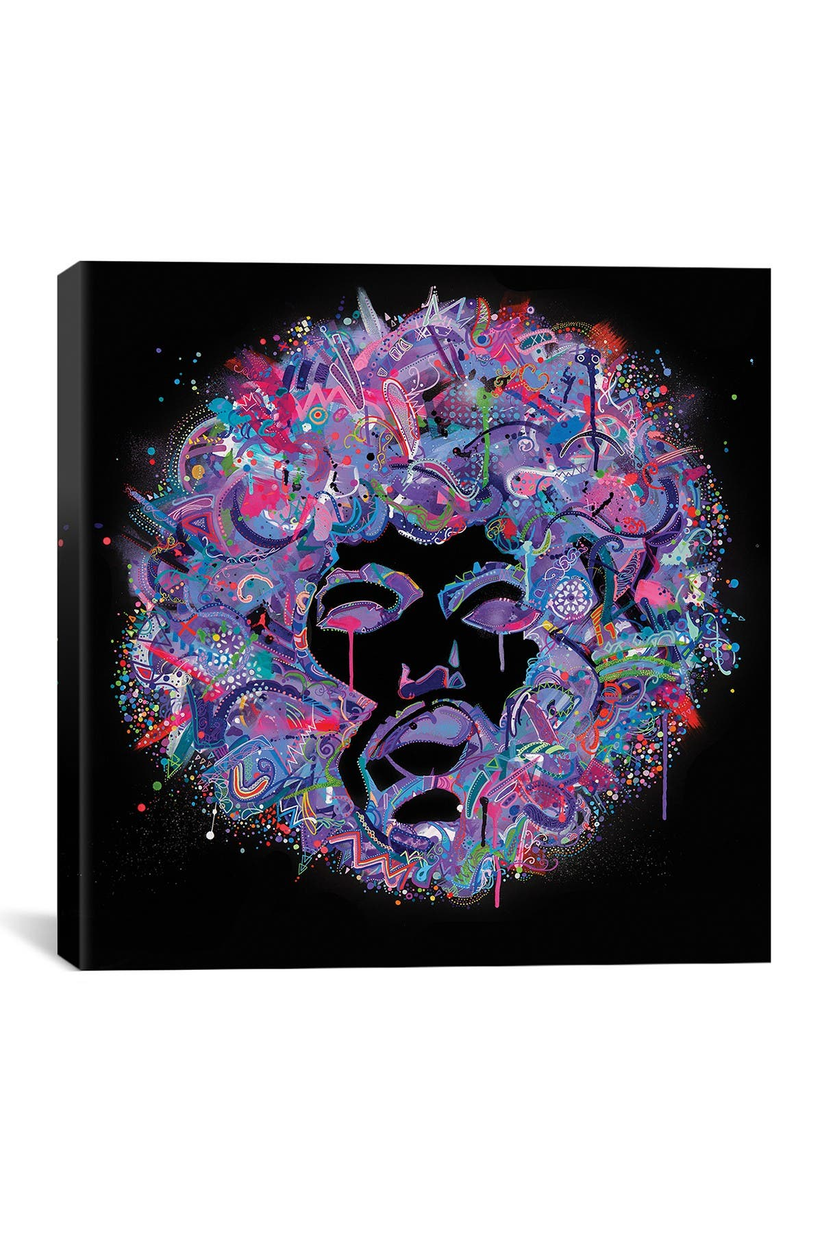 Image of iCanvas Jimi On Black by Jason Humphrey