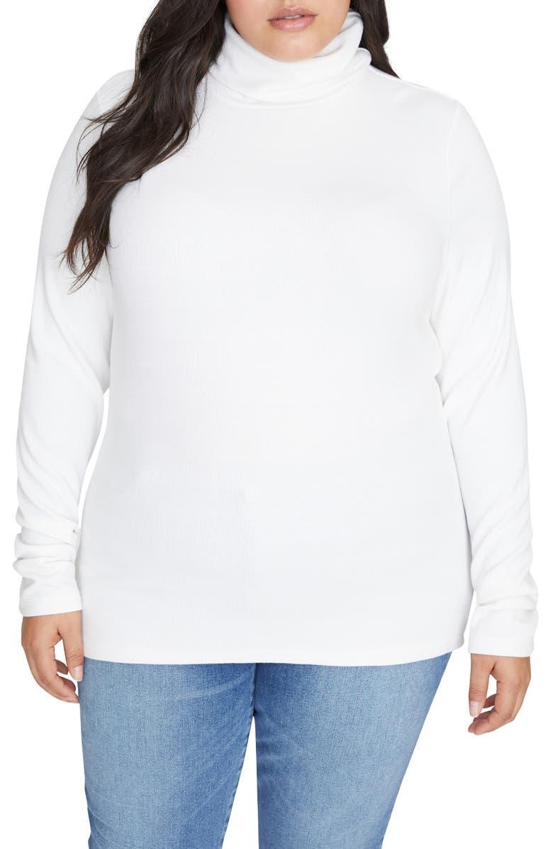 SANCTUARY Essential Turtleneck Sweater, Main, color, OPAL