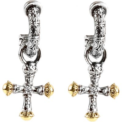 Konstantino Cross Drop Earrings