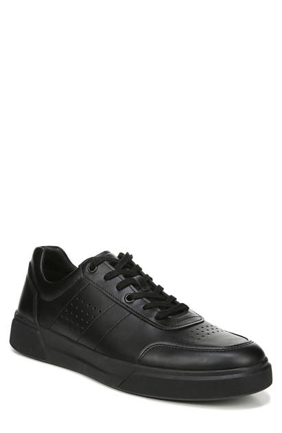 Vince Men's Barnett Perforated Suede Low-top Sneakers In Black