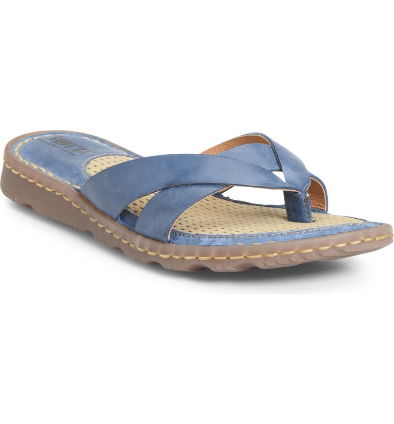 BØRN Zaka Flip Flop, Main, color, BLUE LEATHER