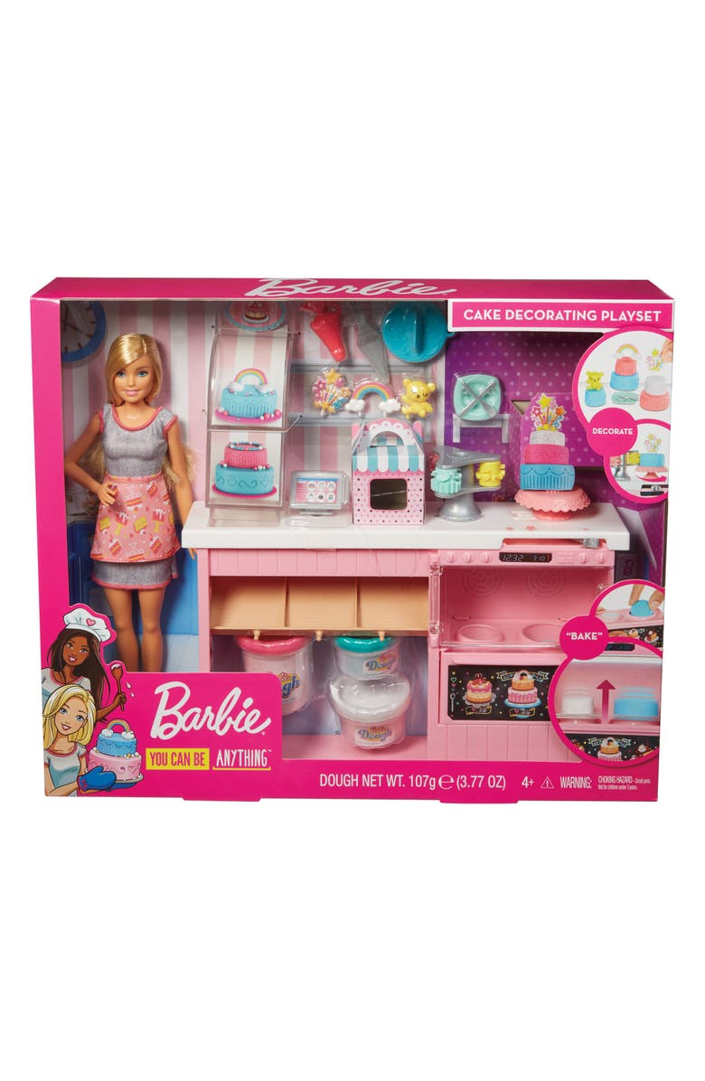 MATTEL Barbie<sup>®</sup> Cake Decorating Playset, Main, color, MULTI