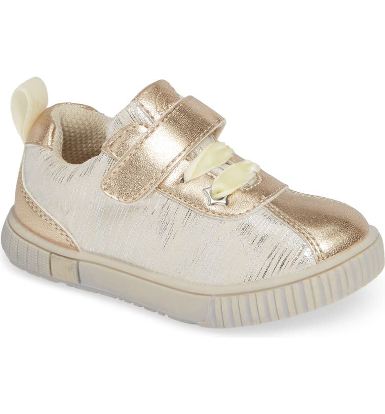 LIVIE & LUCA Spin Metallic Sneaker, Main, color, CREAM TINSEL