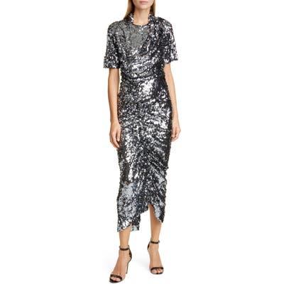 Preen By Thornton Bregazzi Sophia Sequin Cocktail Dress, Grey
