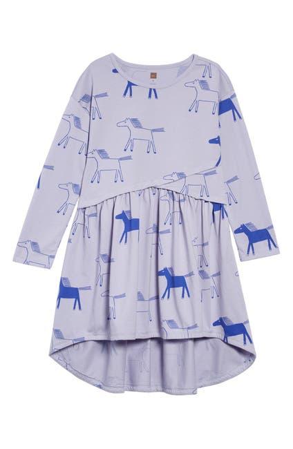 Image of Tea Collection Print Asymmetrical Wrap Dress