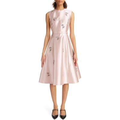 Erdem Belted Bead Embellished A-Line Dress