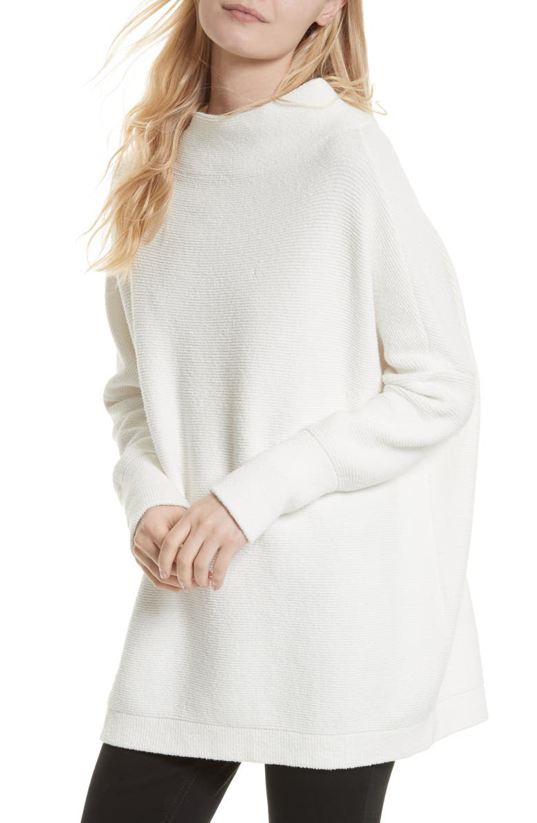 FREE PEOPLE Ottoman Slouchy Tunic, Main, color, WHITE