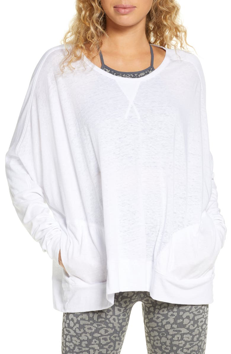 FREE PEOPLE FP MOVEMENT First Choice Long Sleeve Tee, Main, color, WHITE