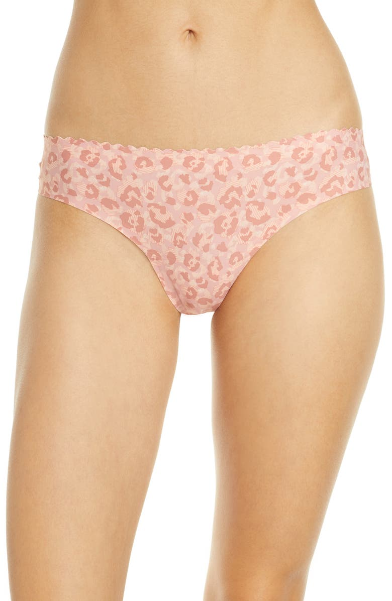 KNIX Essential Scallop Thong, Main, color, LEOPARD