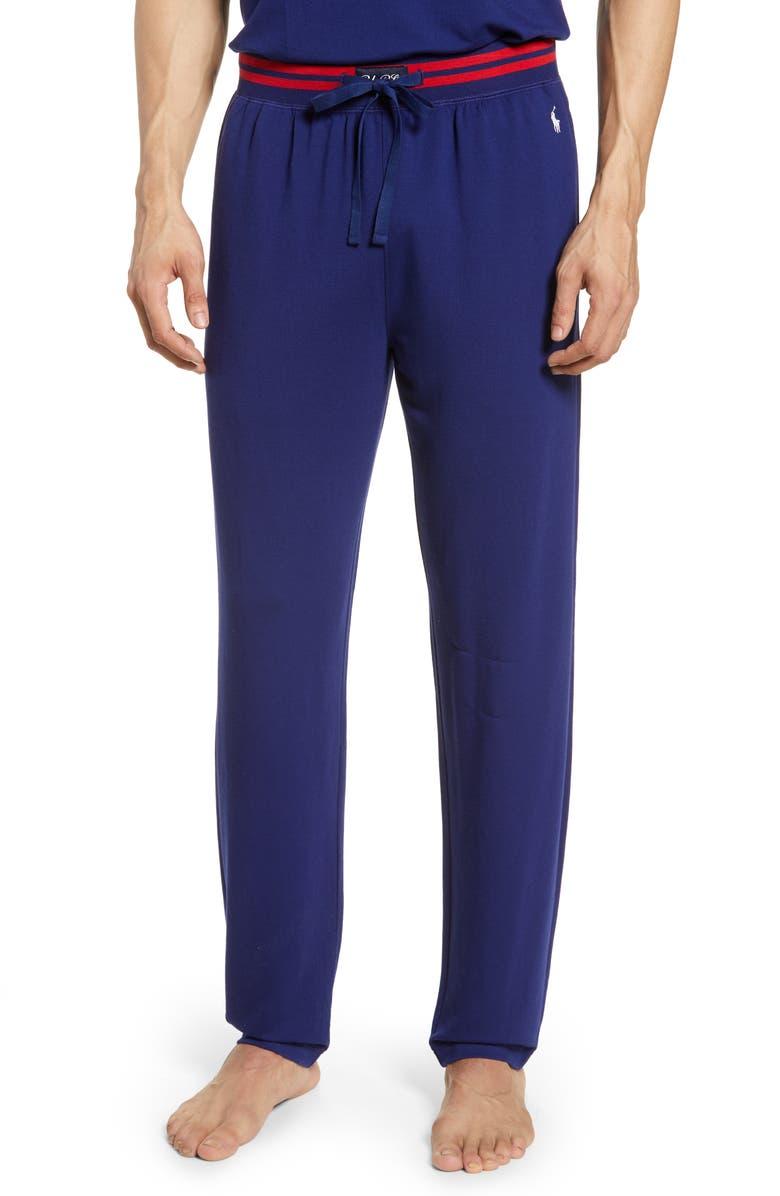 POLO RALPH LAUREN Terry Cloth Lounge Pants, Main, color, FALL ROYAL