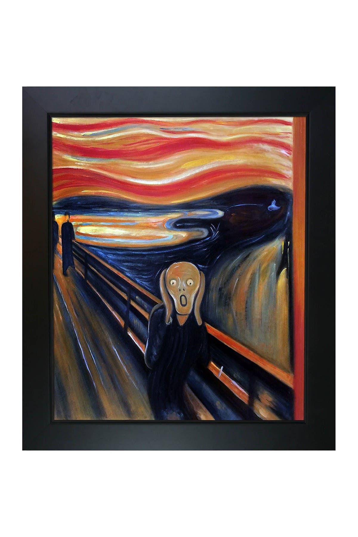 "Image of Overstock Art Edvard Munch ""The Scream"" Framed Hand Painted Oil Canvas Wall Art"