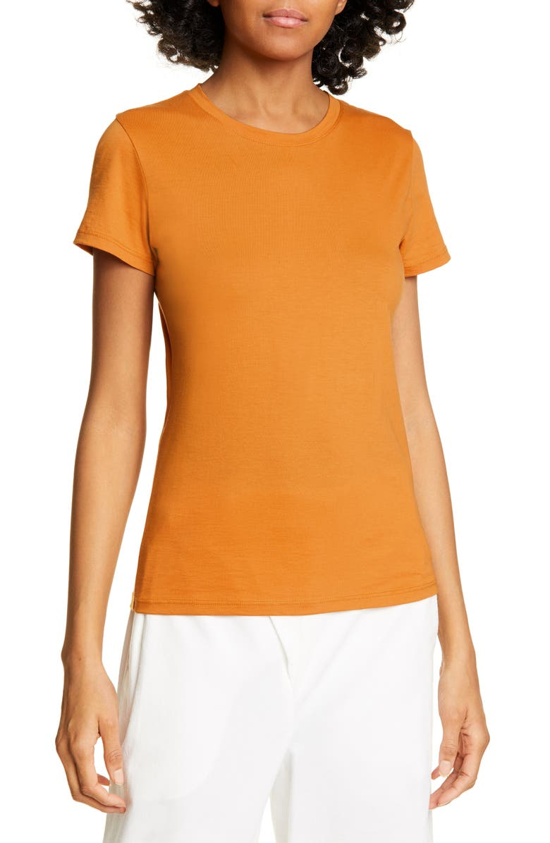 VINCE Essential Crewneck Tee, Main, color, SIENNA