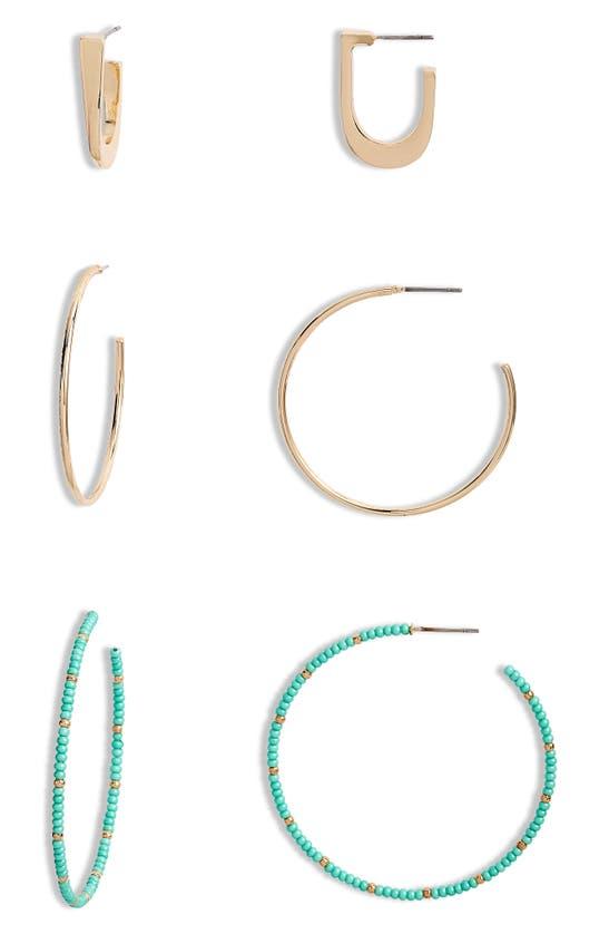 Bp. Earrings SET OF 3 ASSORTED HOOP EARRINGS