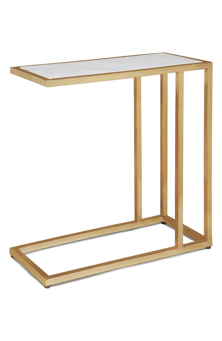 REGINA ANDREW DESIGN Echelon Sofa Hugger Table, Main, color, GOLD