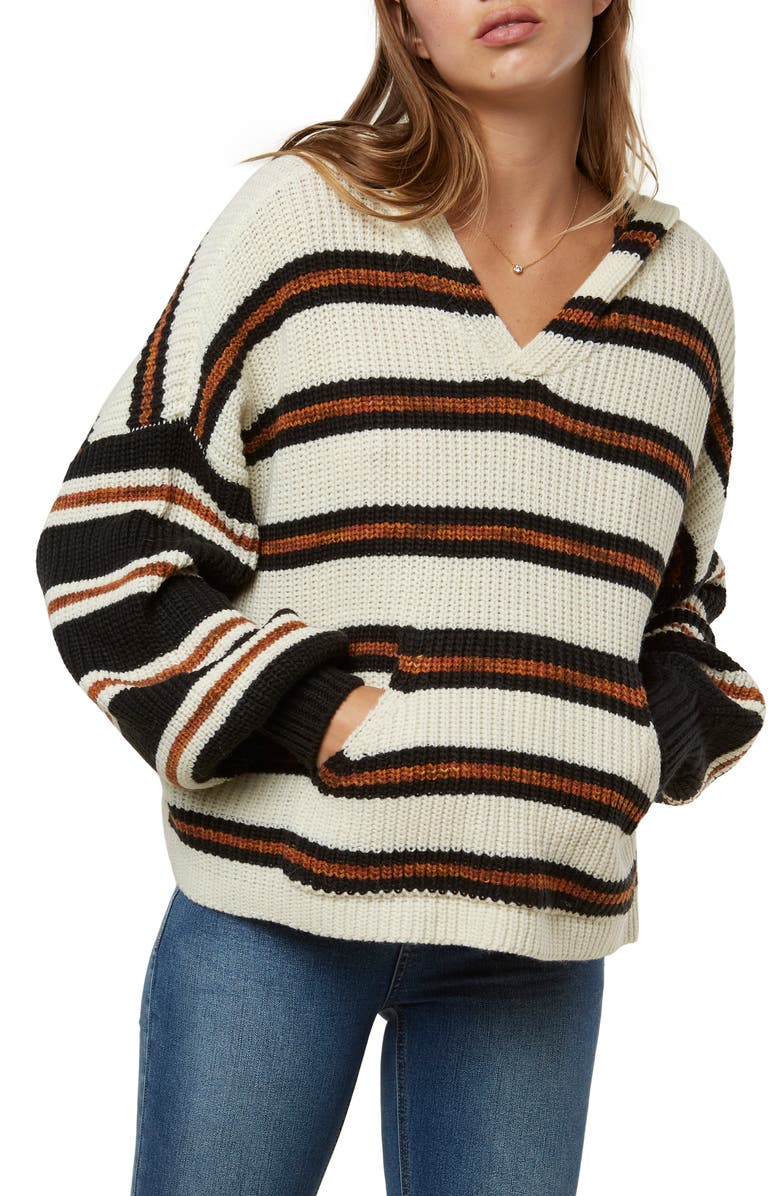 O'NEILL Rudder Stripe Hooded Sweater, Main, color, MULTI COLORED