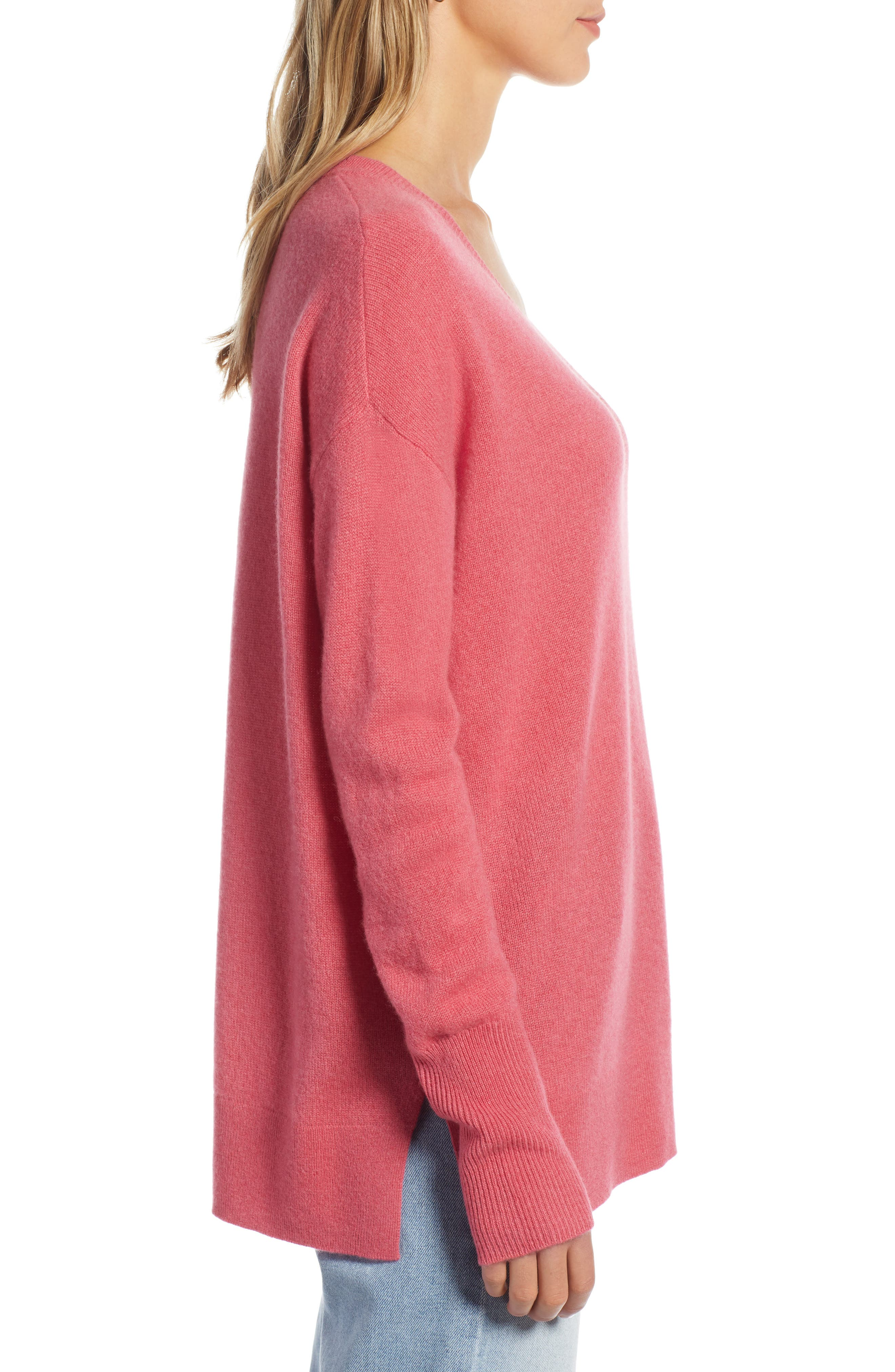 ,                             Relaxed V-Neck Cashmere Sweater,                             Alternate thumbnail 66, color,                             650
