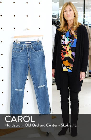 724<sup>™</sup> Ripped High Waist Raw Edge Crop Jeans, sales video thumbnail