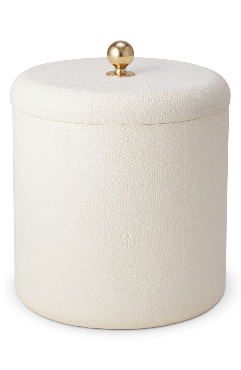AERIN Shagreen Ice Bucket, Main, color, CREAM