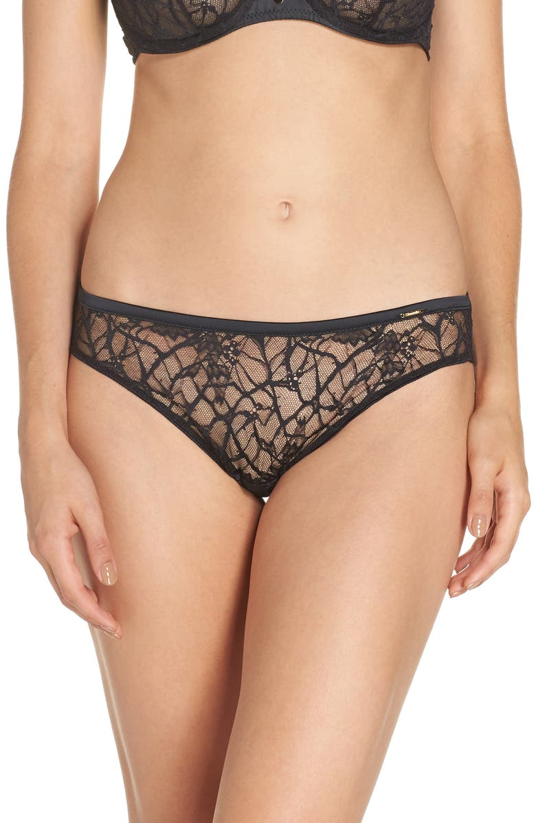CHANTELLE LINGERIE Segur Lace Tanga, Main, color, 001