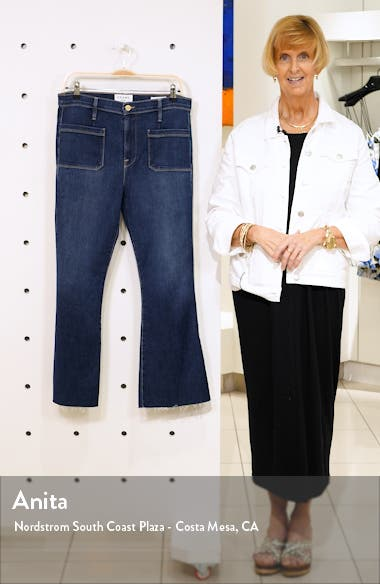 Le Bardot Patch Pocket Crop Flare Jeans, sales video thumbnail