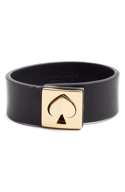 Image of kate spade new york leather heart turn-lock bracelet