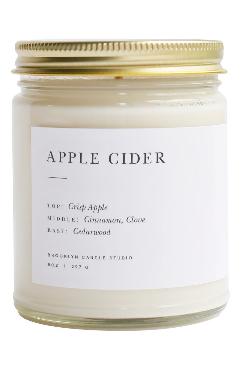 BROOKLYN CANDLE Minimalist Collection - Apple Cider Candle, Main, color, APPLE CIDER