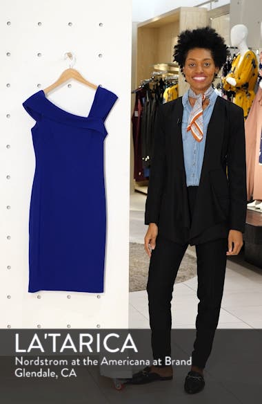 Asymmetrical Neck Sheath Dress, sales video thumbnail