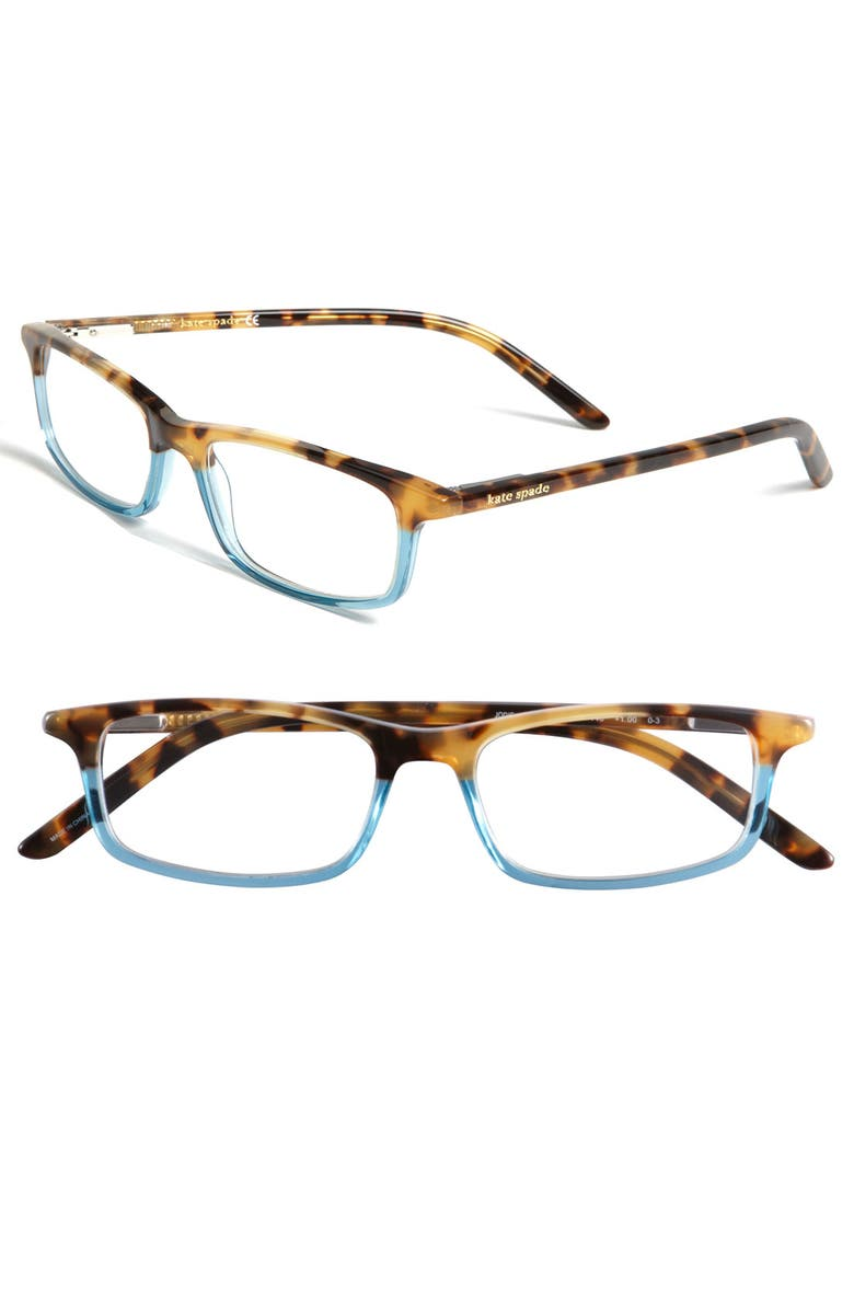 KATE SPADE NEW YORK jodie 50mm reading glasses, Main, color, HAVANA TEAL