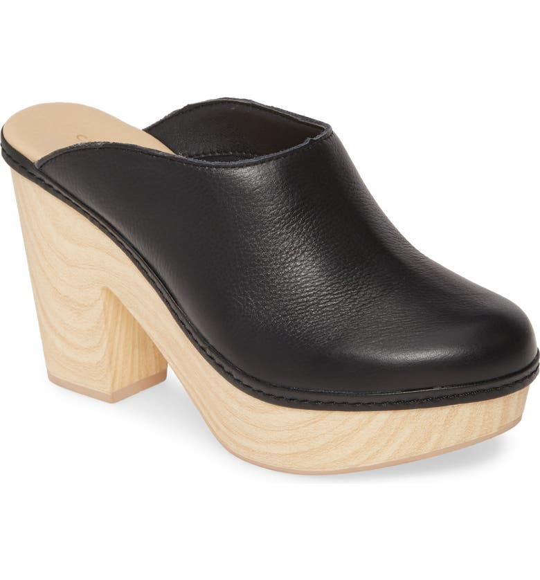 CHINESE LAUNDRY Florina Clog, Main, color, BLACK LEATHER